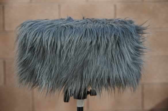 SASS rig with faux-fur windscreen cover